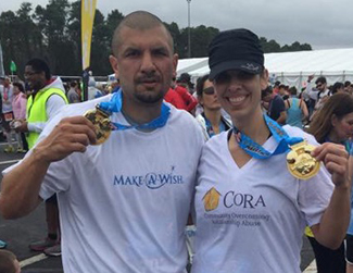 Tanya & Brother Post Race - REsized