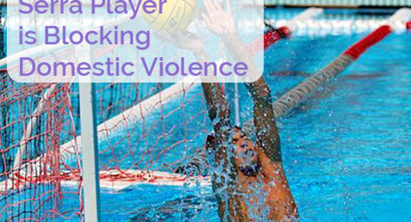 "High School Water Polo Player is ""Blocking"" Domestic Violence"