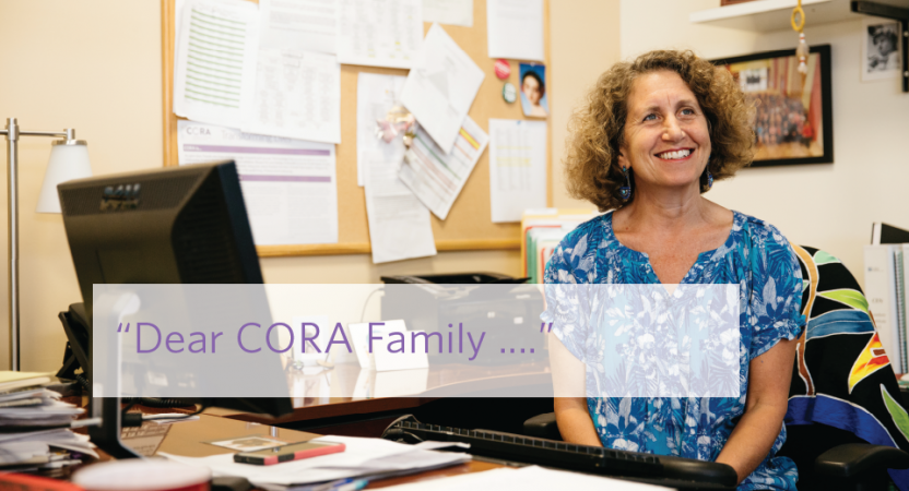 Dear CORA Family – A Letter from Melissa Lukin