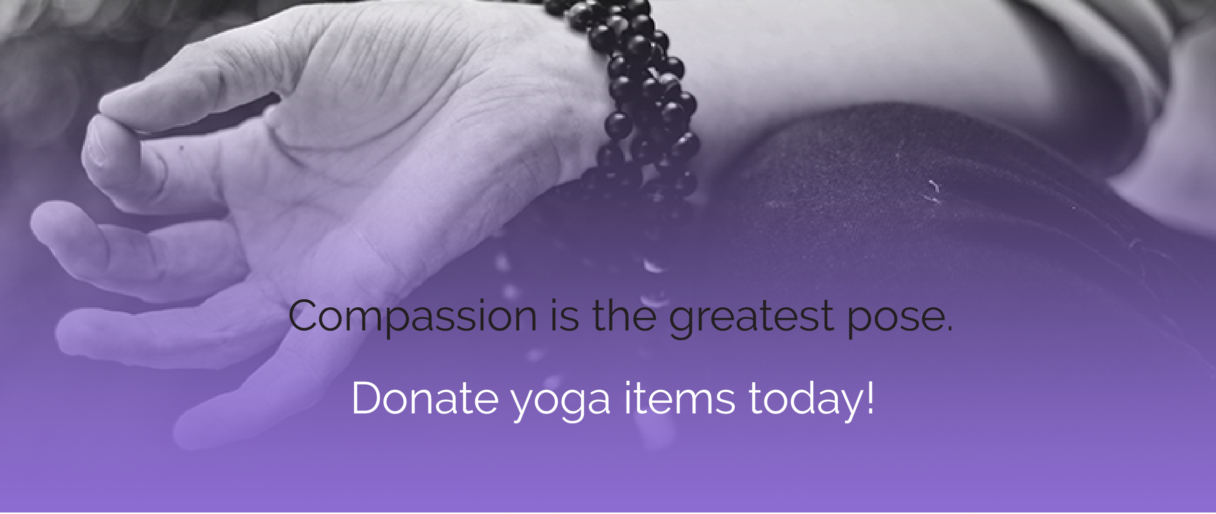 donate yoga items
