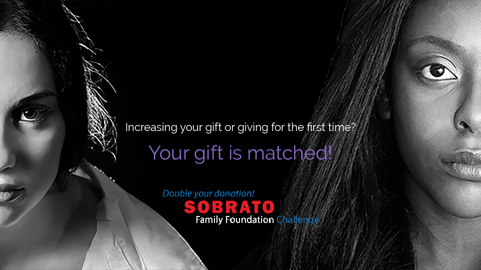 Your gift helping those experiencing domestic violence is matched.